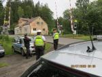 Policejní kontroly železničních přejezdů na Jablonecku