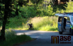 Převoz zraněného cyklisty ve Vrkoslavicích