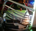 Poškozená auta v ulici Žitavská v Liberci