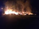 Požár balíků slámy ve Vratislavicích nad Nisou