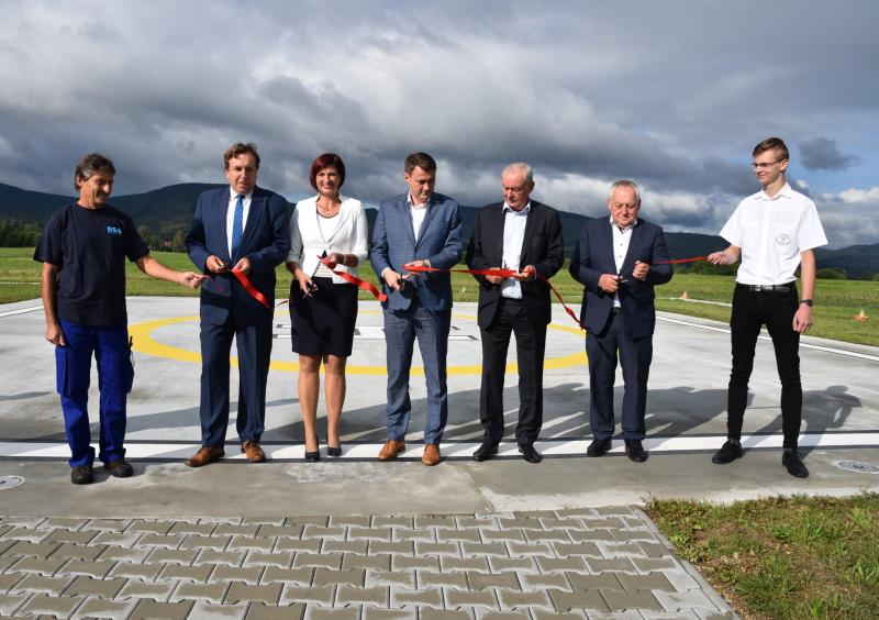 Otevření nového heliportu v Liberci<br />Autor: Archiv KÚ Libereckého kraje