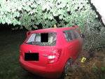 Nehoda opilého řidiče v obci Koberovy