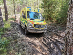 Cvičení řidičů sanitek ve vojenském prostoru Ralsko