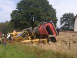 Nehoda nákladního vozu Tatra ve Smržovce