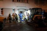 Zásah hasičů při úniku plynu v jablonecké ulici Skřivánčí