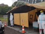 Volby na stanovišti drive-in v Jablonci nad Nisou