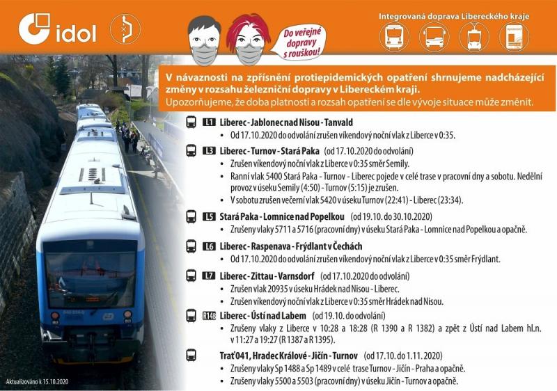 Omezení v jízdním řádu vlaků<br />Autor: Archiv KÚ Libereckého kraje
