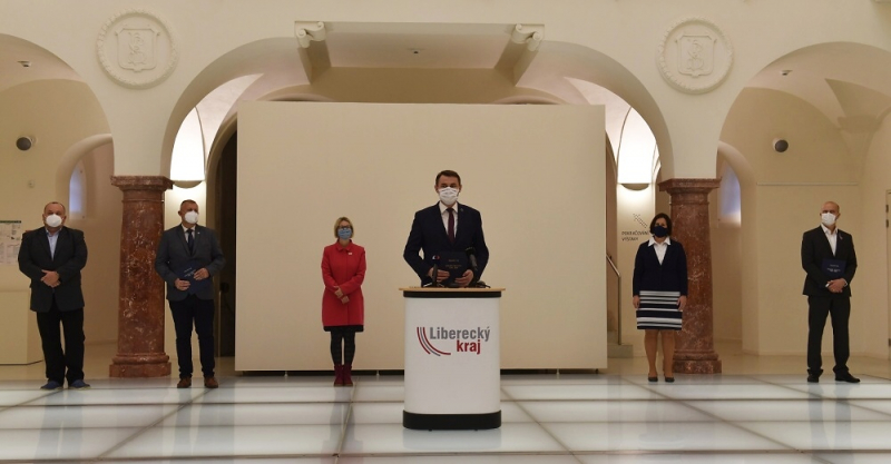 Oznámení podpisu Koaliční smlouvy pro volební období Zastupitelstva Libereckého kraje 2020-2024<br />Autor: Archiv KÚ Libereckého kraje