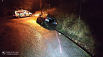 Řidič sjel na Smržovce do příkopu. Při cestě pro odtah potkal policisty