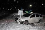 Nehoda na namrzlé vozovce v Rychnově