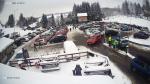 Centrální parkoviště v Bedřichově v sobotu 9. ledna 2021
