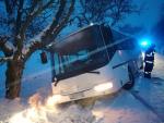 Zapadlý autobus ve Frýdštejně