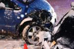 Srážka dvou aut v Desné