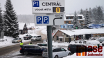 Parkování v Bedřichově 24. ledna 2021