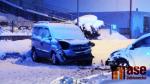 Srážka dvou aut v ulici Hlavní na Smržovce