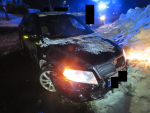Střet dvou aut v Tanvaldě