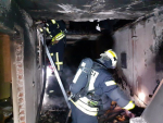 Požár rodinného domu v Jablonci nad Nisou