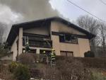 Požár domu v Železném Brodě - Hrubé Horce