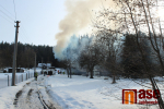 Požár chalupy na Smržovce