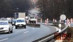 Provoz na rekonstruované mimoúrovňové křižovatce I/35 Rádelský mlýn ve středu 24. února 2021