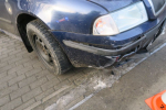 Nehoda na zledovatělé vozovce v Tanvaldě