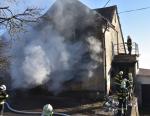 Požár domu ve Frýdštejně