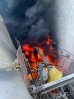V Jablonci hořelo na dně nádrže v Zeleném údolí