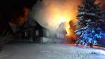 Požár chalupy ve Světlé pod Ještědem