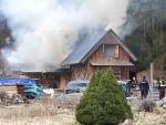 Požár chaty v České Lípě