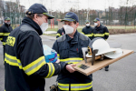 Rozloučení kolegů s hasičem Lumírem Jírou