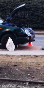 Nehoda auta a motorky ve Vrkoslavicích