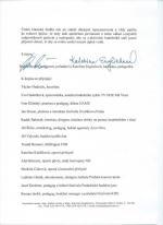 Dopis ministrovi kultury Lubomíru Zaorálkovi