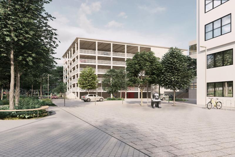 Vizualizace - Náměstí před Evropským domem