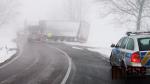 Havarovaný kamion, který blokoval silnici z Liberce na Frýdlant