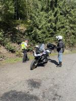 Policejní kontroly motorkářů u Železného Brodu