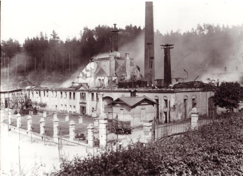 Po požáru v roce 1905.